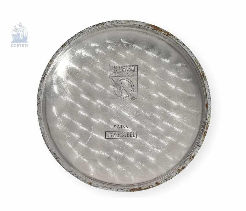 "Armbanduhr: seltener Universal Geneva Chronograph ""Tri-Compax"" Ref. 22258, square 1945 - photo 3"
