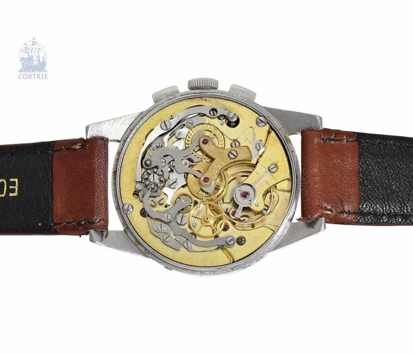 "Armbanduhr: seltener Universal Geneva Chronograph ""Tri-Compax"" Ref. 22258, square 1945 - photo 4"