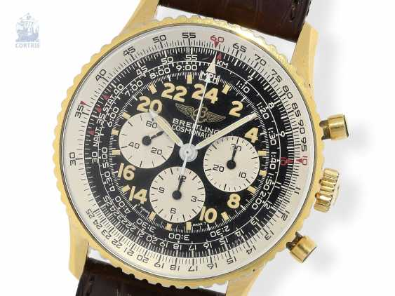 "Armbanduhr: gesuchter Chronograph, Breitling Navitimer Cosmonaute ""24 hours"", Ref. 81600, ca.1980 - photo 1"