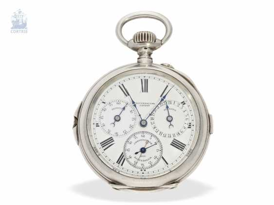 "Pocket watch: extremely rare-Regulator-Chronograph-with-time-counter ""universal watch Patent"" according to the invention of Fritz Bovet and Albin Ernest Bessire, Patent Hermann Bovet Brevet No. 12 of 1888 - photo 1"