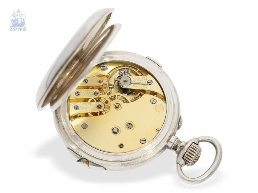 "Pocket watch: extremely rare-Regulator-Chronograph-with-time-counter ""universal watch Patent"" according to the invention of Fritz Bovet and Albin Ernest Bessire, Patent Hermann Bovet Brevet No. 12 of 1888 - photo 2"