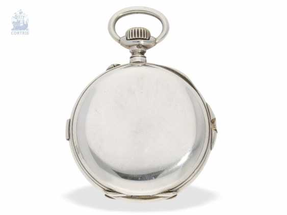 "Pocket watch: extremely rare-Regulator-Chronograph-with-time-counter ""universal watch Patent"" according to the invention of Fritz Bovet and Albin Ernest Bessire, Patent Hermann Bovet Brevet No. 12 of 1888 - photo 4"