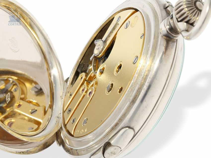 "Pocket watch: extremely rare-Regulator-Chronograph-with-time-counter ""universal watch Patent"" according to the invention of Fritz Bovet and Albin Ernest Bessire, Patent Hermann Bovet Brevet No. 12 of 1888 - photo 7"