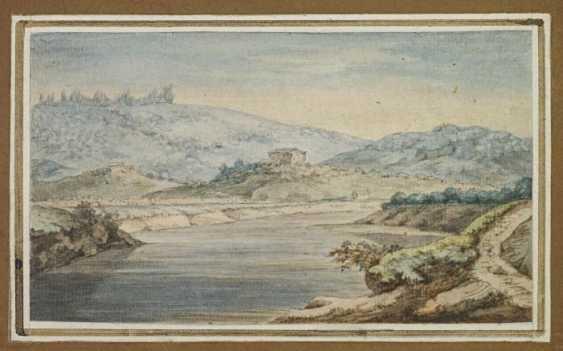 "Goethe, Johann Wolfgang von 1749 Frankfurt am Main - 1832 Weimar, ""Tiber landscape"" - photo 1"