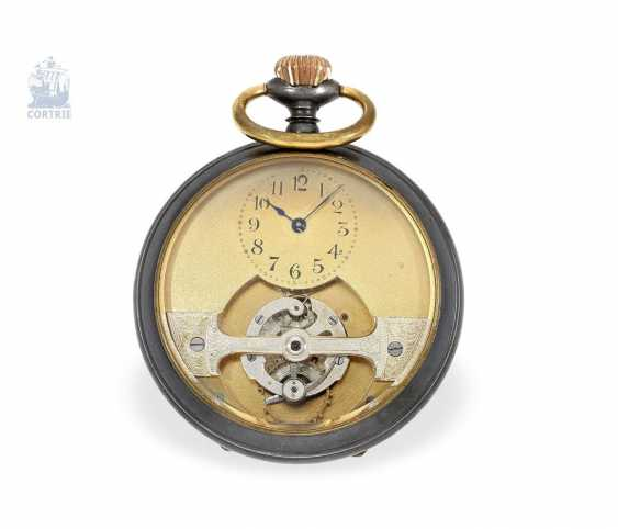 "Pocket watch: fine and rare pocket watch, a Tourbillon according to the Swiss Patent. No. 30754, Courvoisier Frères ""Mobilis"", La Chaux-de-Fonds, CA. 1910 - photo 1"