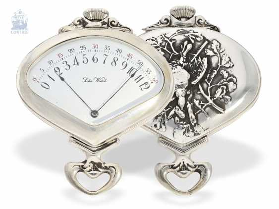 """Pocket watch: rare art Nouveau pocket watch with retrograde, jumping Minute, and hour, Record Watch co. S. A., Tramelan, """"Sector Watch"""", CA. 1905 - photo 1"""