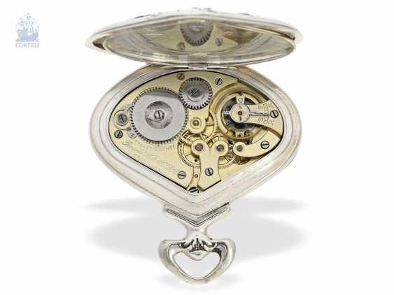 """Pocket watch: rare art Nouveau pocket watch with retrograde, jumping Minute, and hour, Record Watch co. S. A., Tramelan, """"Sector Watch"""", CA. 1905 - photo 2"""