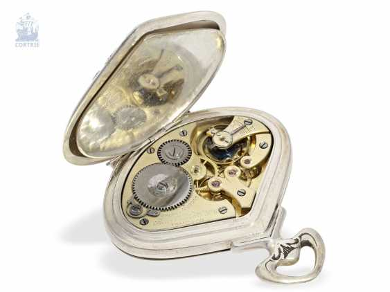 """Pocket watch: rare art Nouveau pocket watch with retrograde, jumping Minute, and hour, Record Watch co. S. A., Tramelan, """"Sector Watch"""", CA. 1905 - photo 3"""