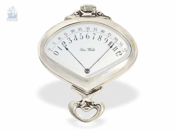 """Pocket watch: rare art Nouveau pocket watch with retrograde, jumping Minute, and hour, Record Watch co. S. A., Tramelan, """"Sector Watch"""", CA. 1905 - photo 4"""