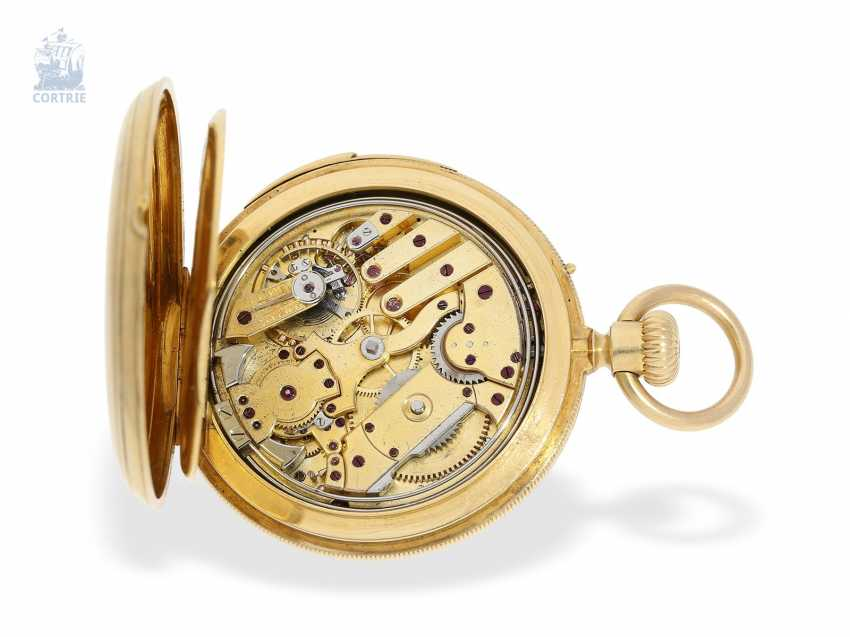 Pocket watch: early, small gold savonnette with Repetition, calibre Le Coultre, Rossel & Fils, Geneve, No. 90279, high fine quality, CA. 1860 - photo 3
