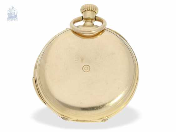 Pocket watch: early, small gold savonnette with Repetition, calibre Le Coultre, Rossel & Fils, Geneve, No. 90279, high fine quality, CA. 1860 - photo 5