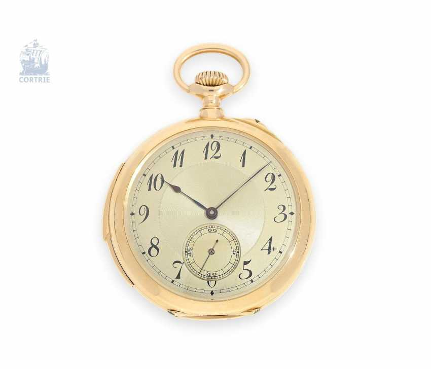 Pocket watch: exquisite, high-gentleman pocket watch with minute repetition, Le Coultre & Cie., around 1915, a former noble possession - photo 1