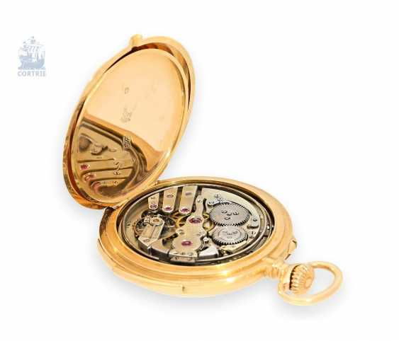 Pocket watch: exquisite, high-gentleman pocket watch with minute repetition, Le Coultre & Cie., around 1915, a former noble possession - photo 2