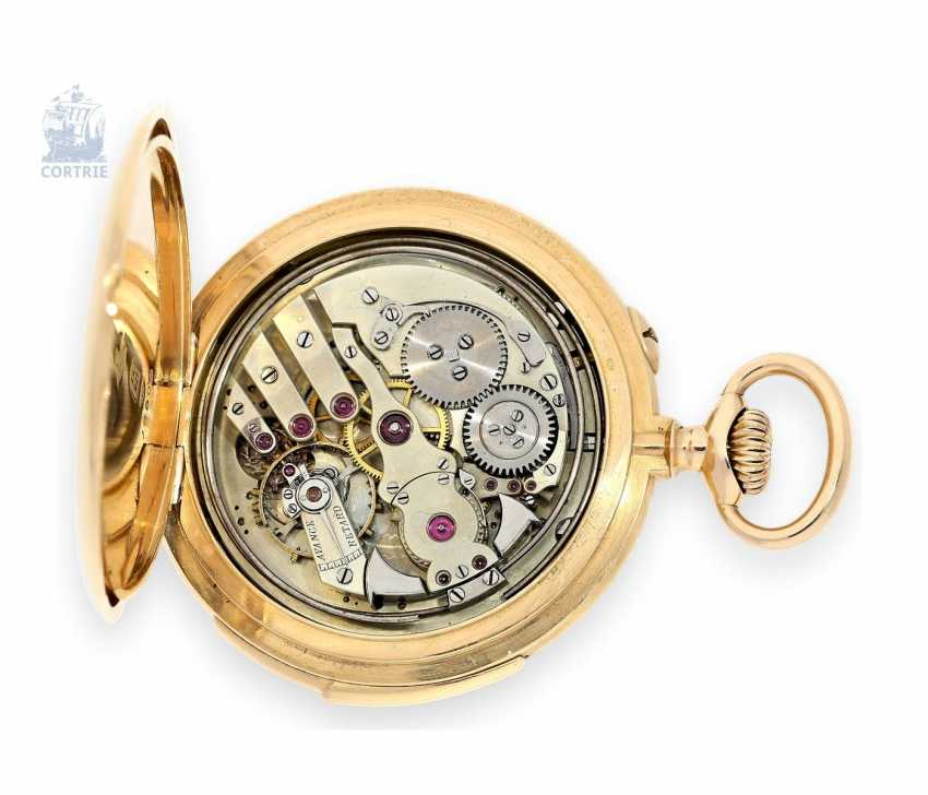 Pocket watch: exquisite, high-gentleman pocket watch with minute repetition, Le Coultre & Cie., around 1915, a former noble possession - photo 4