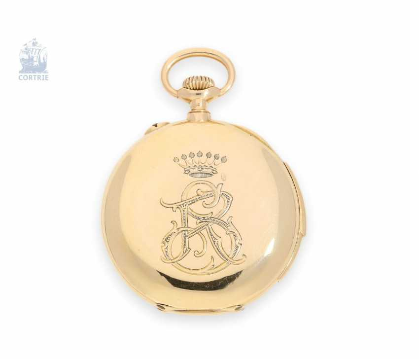 Pocket watch: exquisite, high-gentleman pocket watch with minute repetition, Le Coultre & Cie., around 1915, a former noble possession - photo 6