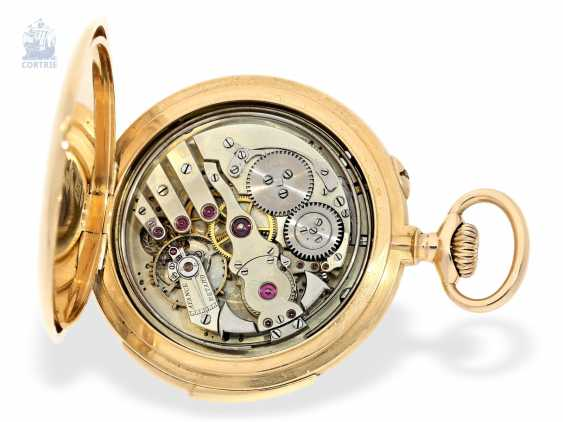 Pocket watch: exquisite, high-gentleman pocket watch with minute repetition, Le Coultre & Cie., around 1915, a former noble possession - photo 7