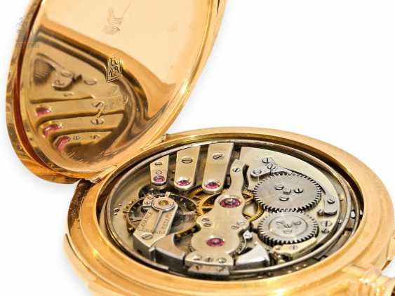 Pocket watch: exquisite, high-gentleman pocket watch with minute repetition, Le Coultre & Cie., around 1915, a former noble possession - photo 8