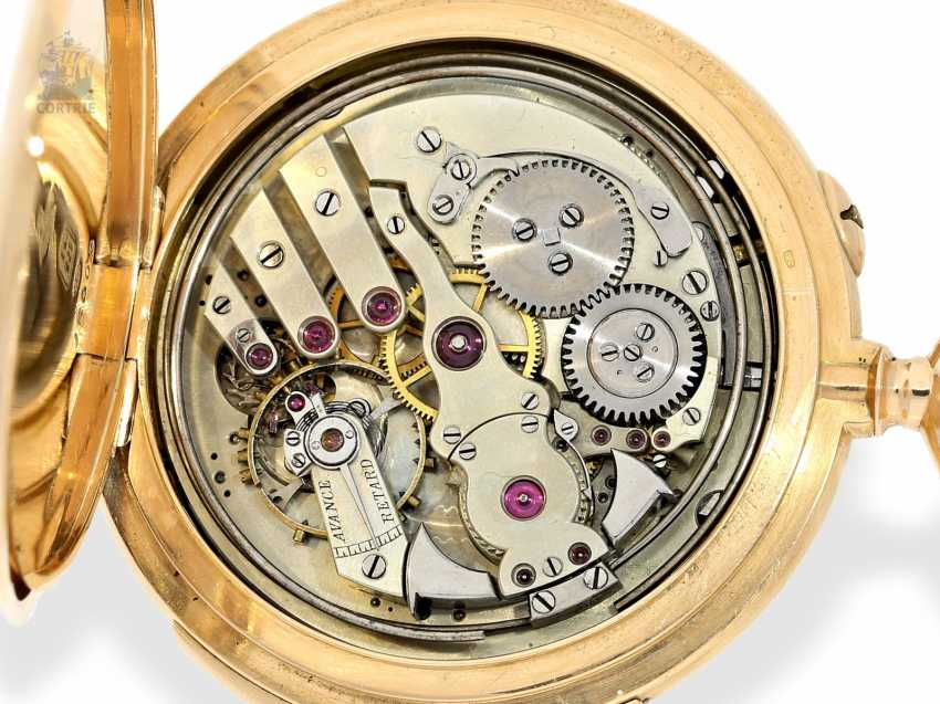 Pocket watch: exquisite, high-gentleman pocket watch with minute repetition, Le Coultre & Cie., around 1915, a former noble possession - photo 9