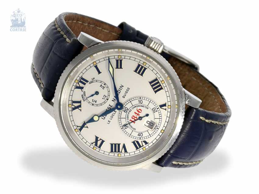 Watch: wanted men's, large, Ulysse Nardin marine chronometer 1846 with power reserve, Ref. 263 - photo 1