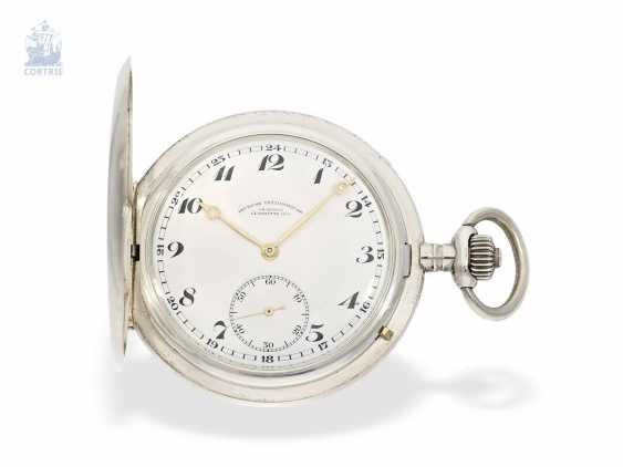 Pocket watch: a particularly severe glashütte Savonnette, German precision watch factory Glashütte No. 200539, CA. 1922 - photo 1
