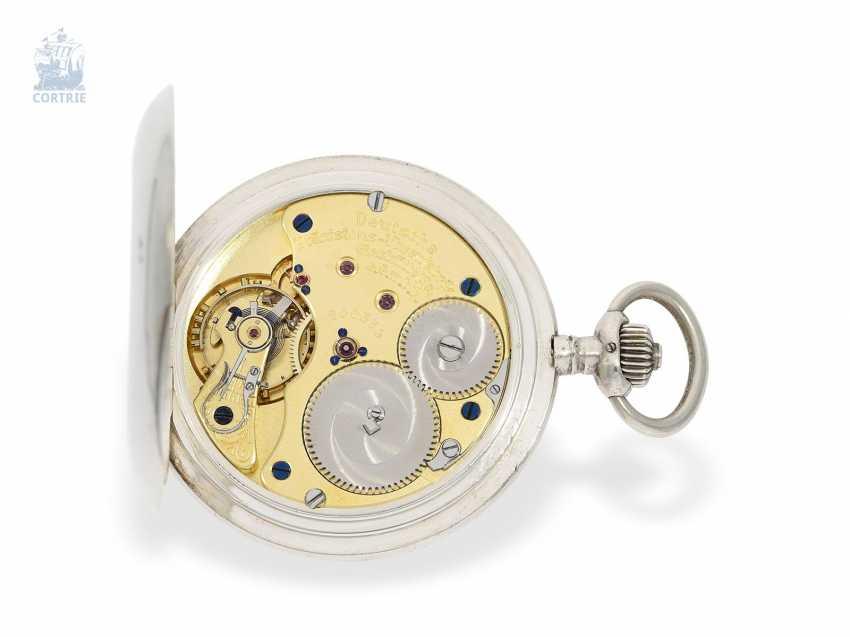 Pocket watch: a particularly severe glashütte Savonnette, German precision watch factory Glashütte No. 200539, CA. 1922 - photo 2