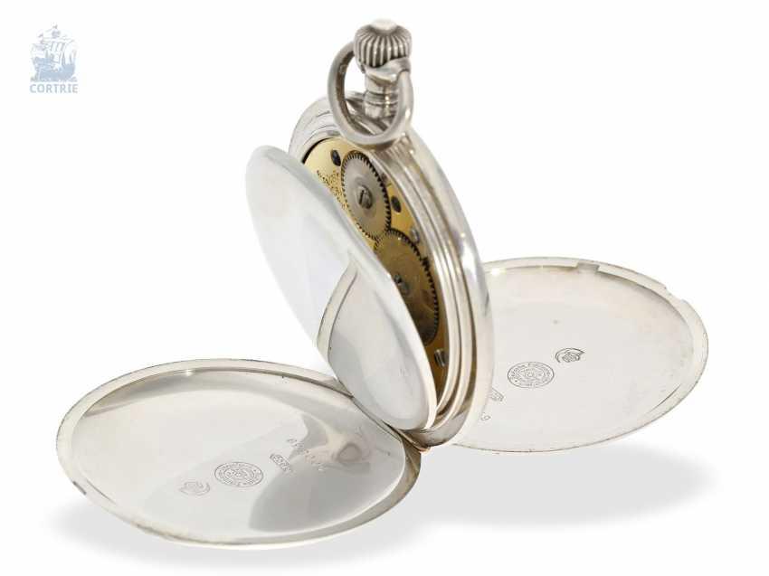 Pocket watch: a particularly severe glashütte Savonnette, German precision watch factory Glashütte No. 200539, CA. 1922 - photo 5