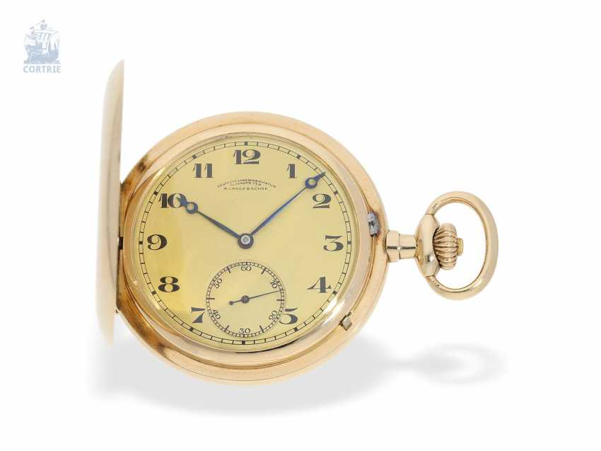 Pocket watch: fine, heavy A. Lange & Söhne gold savonnette with the master excerpt from the book, Glashütte 1924 - photo 1