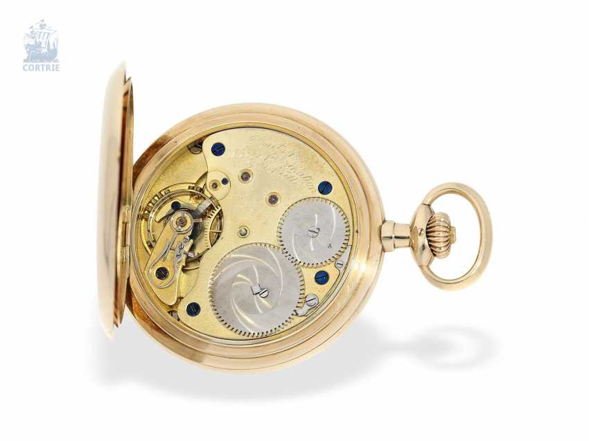 Pocket watch: fine, heavy A. Lange & Söhne gold savonnette with the master excerpt from the book, Glashütte 1924 - photo 3