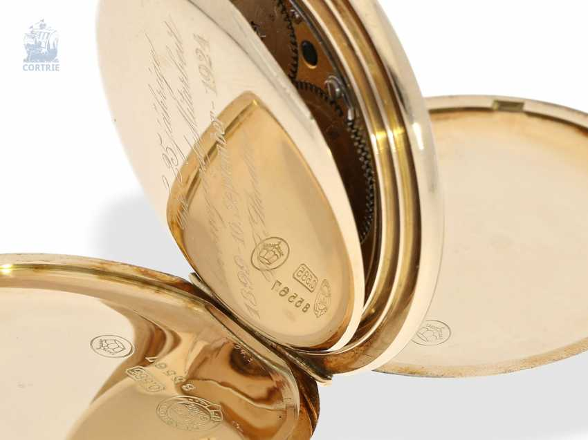 Pocket watch: fine, heavy A. Lange & Söhne gold savonnette with the master excerpt from the book, Glashütte 1924 - photo 6