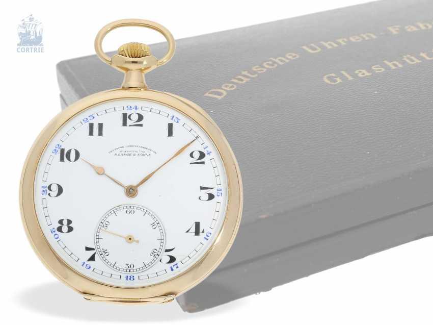 Pocket watch: Lange & Söhne pocket watch with original papers & original box, Glashütte 1928 - photo 1