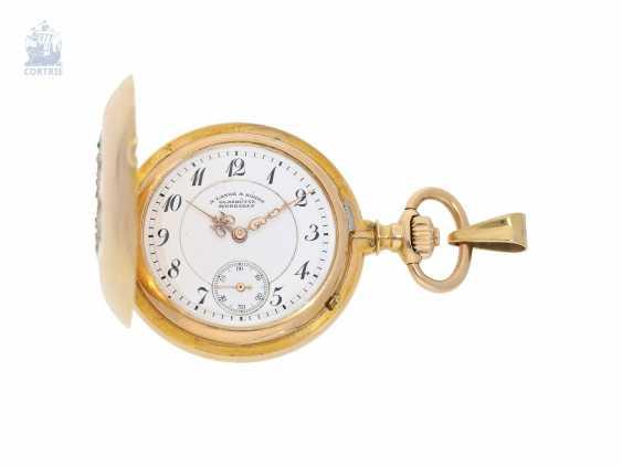 Pocket watch/Anhängeuhr: very rare A. Lange & Söhne Glashütte ladies watch with original diamond/emerald trim, 47567, Glashütte CA. 1903, with the master excerpt from the book - photo 8