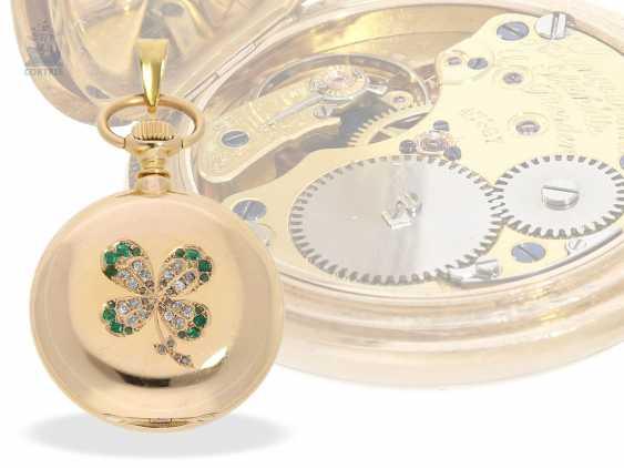 Pocket watch/Anhängeuhr: very rare A. Lange & Söhne Glashütte ladies watch with original diamond/emerald trim, 47567, Glashütte CA. 1903, with the master excerpt from the book - photo 9