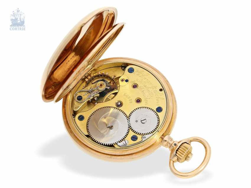Pocket watch: large, fine gold savonnette, A. Lange & Söhne, No. 34889, a glass factory in 1896, with the master excerpt from the book - photo 3