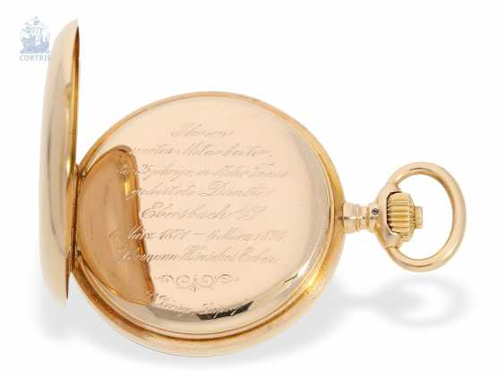 Pocket watch: large, fine gold savonnette, A. Lange & Söhne, No. 34889, a glass factory in 1896, with the master excerpt from the book - photo 4