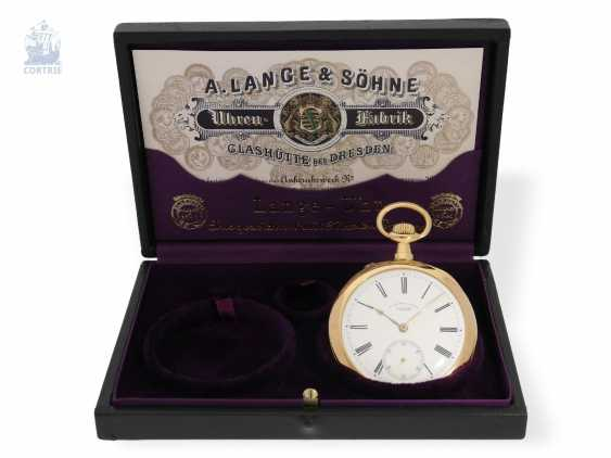 Pocket watch: large, very fine A. Lange & Söhne men's watch, quality 1A, delivered to Krüssmann in Rio in 1906, with certificate and Box - photo 5