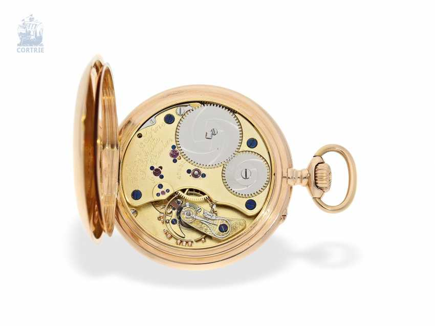 Pocket watch: unique Lange & Sohne rose gold/enamel pocket watch, quality 1A, from the former aristocratic houses, with the master excerpt from the book, Glashütte 1899 - photo 3