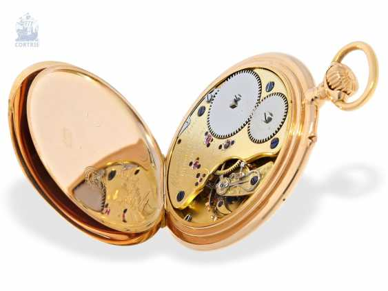 Pocket watch: unique Lange & Sohne rose gold/enamel pocket watch, quality 1A, from the former aristocratic houses, with the master excerpt from the book, Glashütte 1899 - photo 4