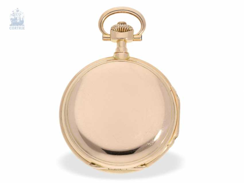 "Pocket watch: important, large, A. Lange & Söhne Anchor chronometer/Prüfchronometer of the Observatory of Leipzig in its rarest Form ""18K rose gold LOUIS XV"", with original box and certificate, No. 27259 1889 - photo 6"