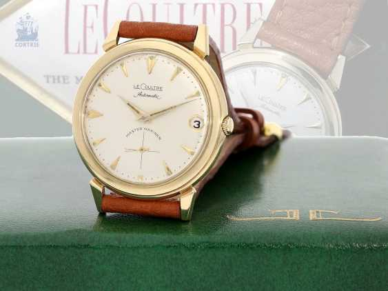 """Watch: very rare, early, Golden """"waterproof"""" Le Coultre """"Automatic Master Mariner"""", 1. Series from CA. 1950, with Box & papers - photo 1"""