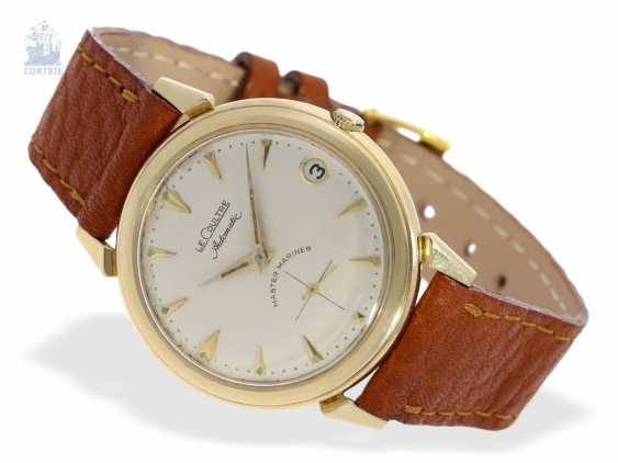 """Watch: very rare, early, Golden """"waterproof"""" Le Coultre """"Automatic Master Mariner"""", 1. Series from CA. 1950, with Box & papers - photo 5"""