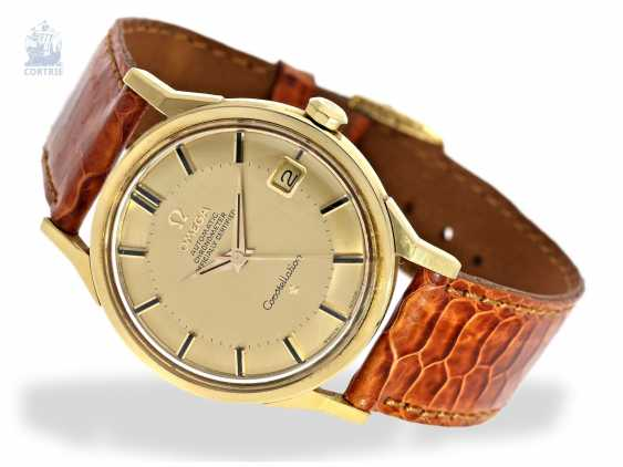 """Wrist watch: high quality Omega Constellation Chronometer """"Pie-Pan"""" reference 168005-6, 18K Gold, C. 1963 - photo 1"""