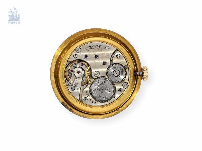 """Watch: extremely rare and very early """"waterproof"""" Omega mens watch """"Oyster-Semi-Hermetic"""" around 1925 with enamel dial, made for the English market - photo 2"""