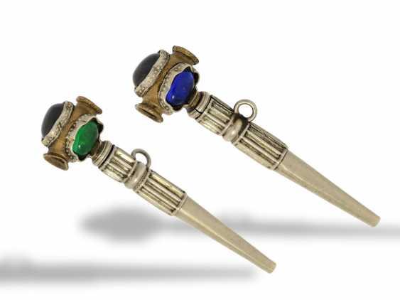 TaschenuhrschlüsseLänge: einzigartiger, musealer Spindeluhrenschlüssel mit geheimem Portrait des Königs, vermutlich Belgien um 1830 - photo 1