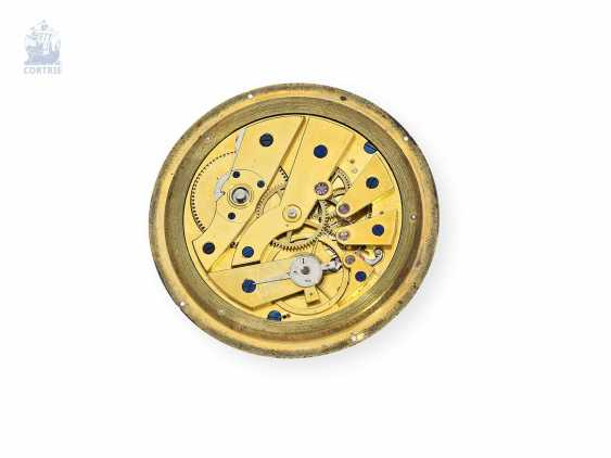 Pocket watch: very fine, especially big Gold/enamel pocket watch with special plant quality, probably Geneva, circa 1830 - photo 3