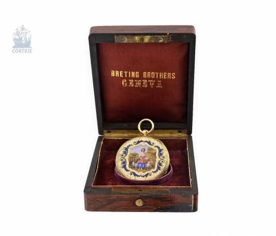 Pocket watch: exquisite, super-flat Gold/enamel pocket watch Vacheron Geneve, 1835, one of the earliest watches in the world famous company, No. 686 - photo 2