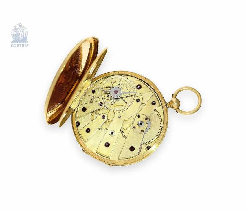 Pocket watch: exquisite, super-flat Gold/enamel pocket watch Vacheron Geneve, 1835, one of the earliest watches in the world famous company, No. 686 - photo 4