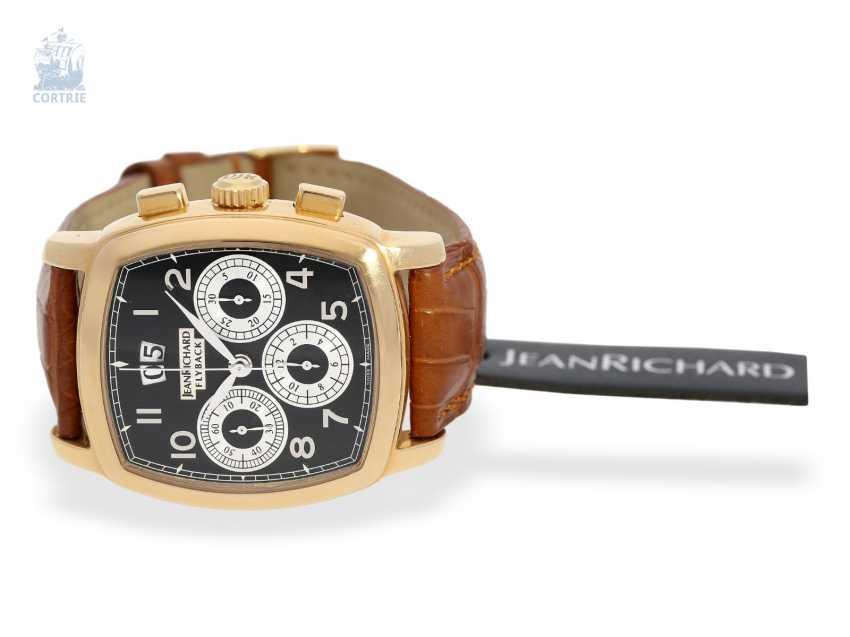"Armbanduhr: schwerer 18K Luxus-Chronograph, Daniel JeanRichard ""Grand TV Screen Fly-Back Chronograph Ref. 51016"", limitiert, No.034 - photo 3"