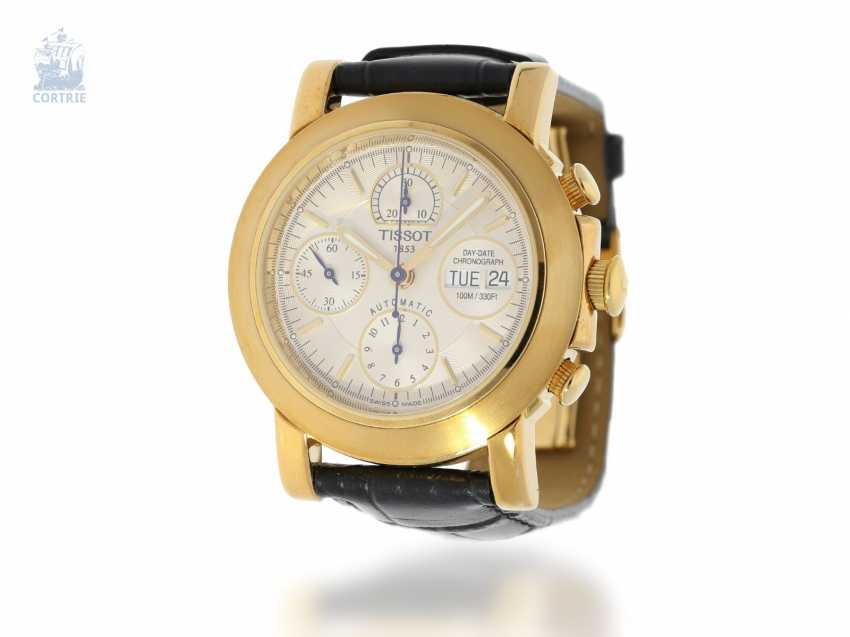 """Watch: heavy men's Chronograph in 18K yellow Gold, Tissot """"T-LORD AUTOMATIC Ref. T71.3.441.31"""", presumably unworn, new-old-stock - photo 1"""