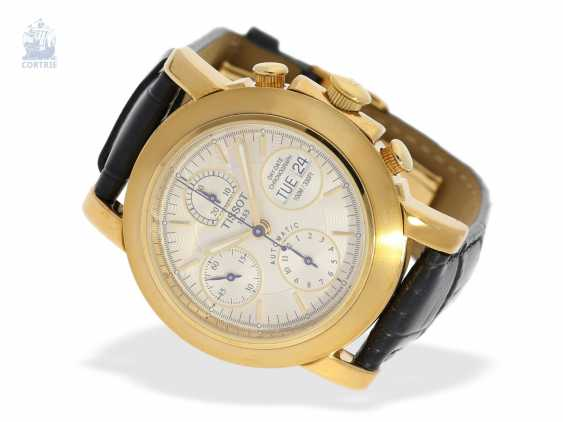 """Watch: heavy men's Chronograph in 18K yellow Gold, Tissot """"T-LORD AUTOMATIC Ref. T71.3.441.31"""", presumably unworn, new-old-stock - photo 3"""