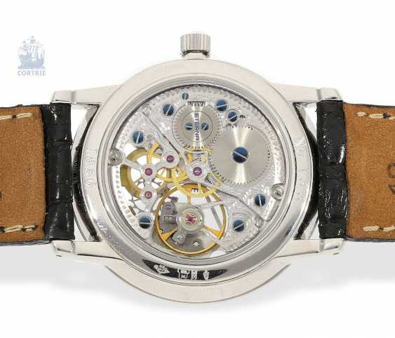 """Watch: very rare, strictly limited edition vintage mens Eterna """"Skeleton Platinum"""" Ref.In 1856, No. 133/299 with original certificate and original box - photo 3"""